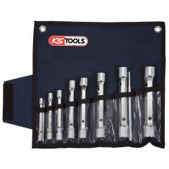 Trousse de clés à tubes doubles 12 pans - 10 pcs KS Tools 518.0405