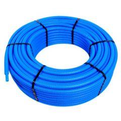 Tube PER pré-gainé Bleu Ø16 x 1,5 - 25 mètres - Blansol Barbi