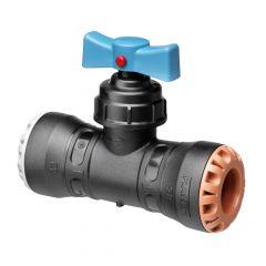 Vanne encliquetable tube PE Ø25 - Cuivre Ø22 - Série 1 - Plasson