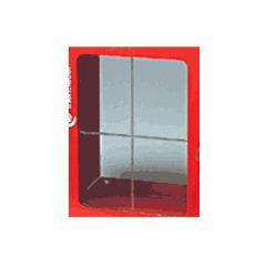 Vitre de rechange 360x360 mm pour coffret sous verre dormant - Thermador