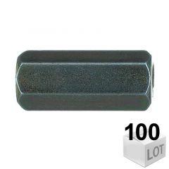100 Raccords de jonction Femelle-Femelle 7x150 - 30mm