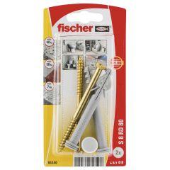 Kit de fixation pour WC au sol 8x80mm - Fischer