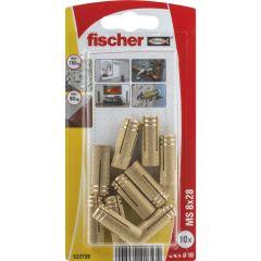 10 Chevilles en laiton fischer MS Ø8x28 - Fischer