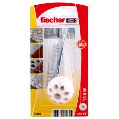 Kit de fixation butée de porte blanche - Fischer