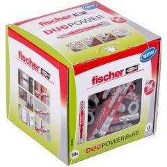 Boîte de 50 chevilles universelle Duopower Ø8x65 mm - Fischer