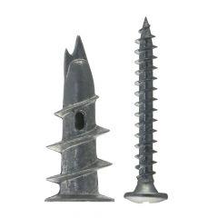 30 Chevilles métallique pour carton-plâtre GKM-SF /30B avec vis à tête bombée - Fischer