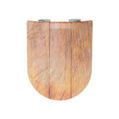 Abattant WC Wood Slim Pralognan - descente assistée et déclipsable - Olfa