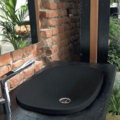 Lavabo céramique rectangle 60x40 cm à encastrer Blackmat - Ondyna WWL604513