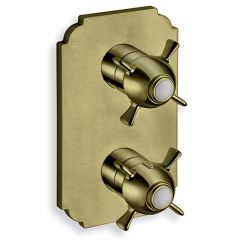 Facade thermostatique douche encastré CHAMBORD Vieux bronze (2 sorties) - Cristina Ondyna XC85292