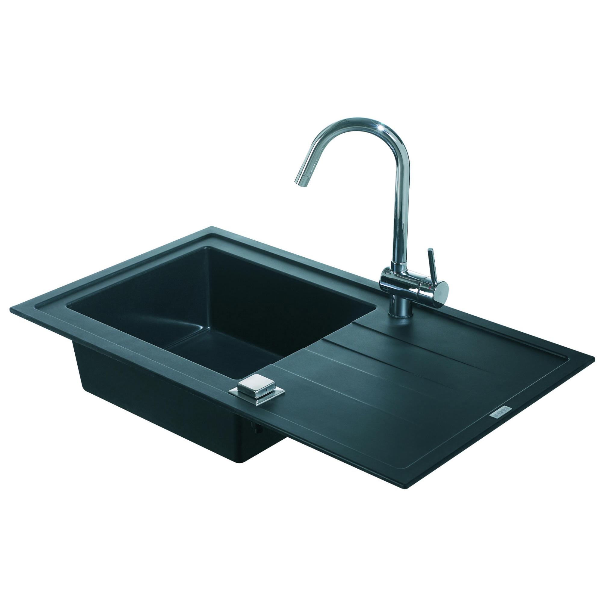 evier encastrer arcos noir graphite 1 cuve. Black Bedroom Furniture Sets. Home Design Ideas