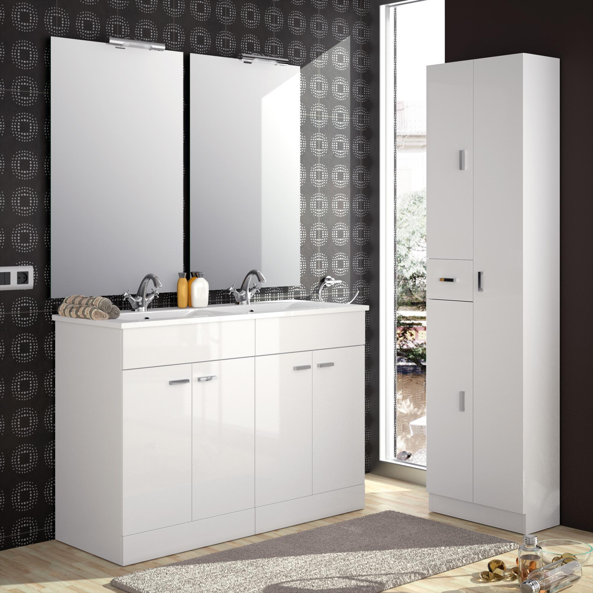 armoire de toilette inox suspendue avec miroir
