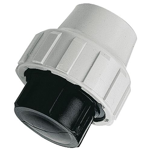 Raccord plastique bouchon pour Tube PE ou PEHD Ø50