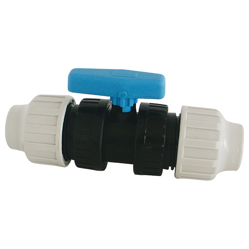 Raccord plastique vanne à sphère FemelleFemelle pour Tube PE ou PEHD Ø25