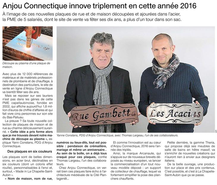 2016, les innovations d'Anjou Connectique