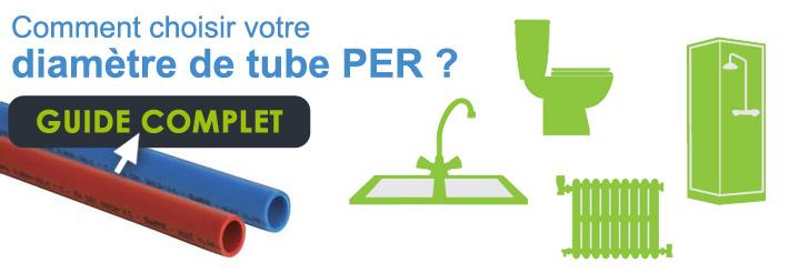 Comment choisir le tube PER selon diamètre