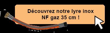 Découvrez notre lyre INOX NF Gaz 35 cm !