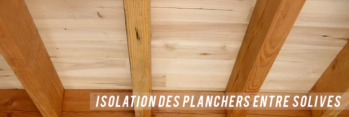 Isolation plafond entre solives
