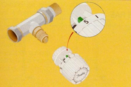 Etape 2 montage tête thermostatique RA 2990 Danfoss