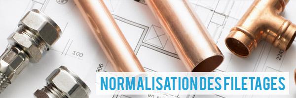 Normalisation filetage plomberie