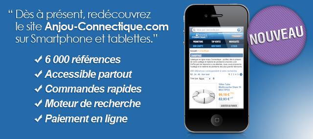 Présentation du site mobile Anjou Connectique