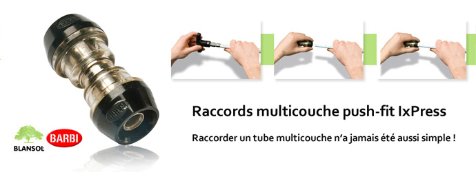 raccords push-fit IxPress