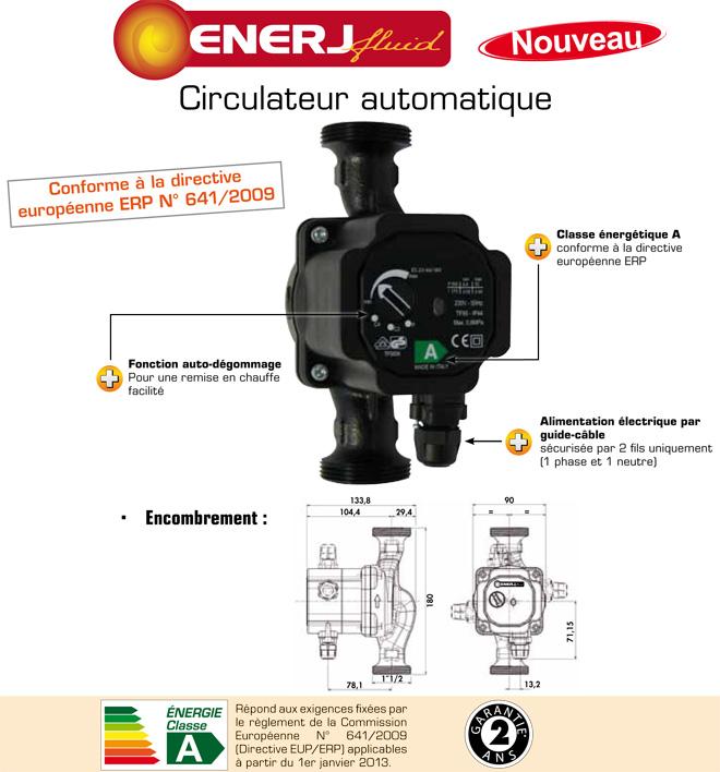 Pompe chauffage ENERJFLUID