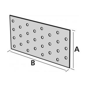 Dimensions plaque perforée