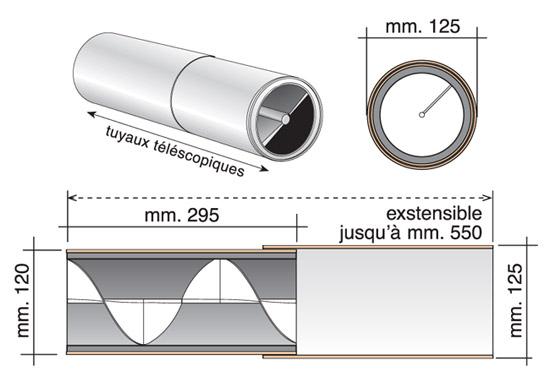 Réducteur acoustique télescopique HELIX 34