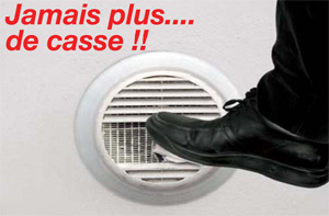 Grille de ventilation ronde en aluminium anti choc - Grille de ventilation vide sanitaire ...