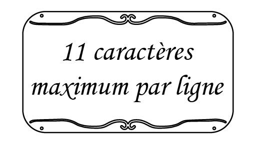 Nombre caractères maxi 12