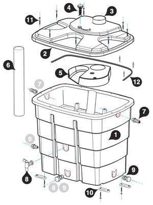 Plan récupérateur eau waterbox