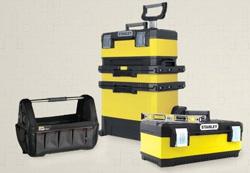 Boîtes à outils, casiers de rangement