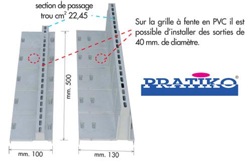 grille fente pour caniveau pvc s rie 100 anjou connectique. Black Bedroom Furniture Sets. Home Design Ideas