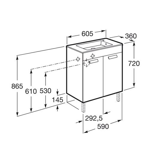 dimension compact DEBBA 600 2 portes