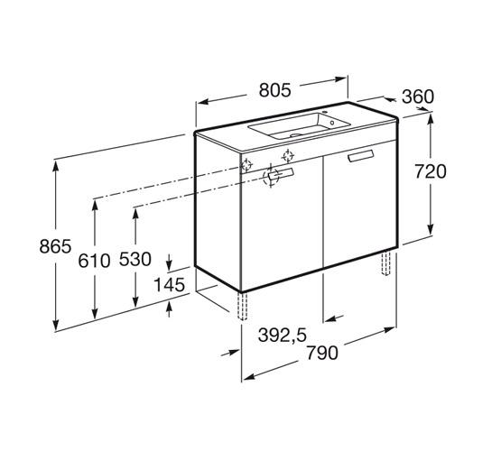 dimension Debba compact 800 2 portes