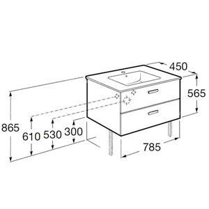 Dimensions meuble Unik Victoria