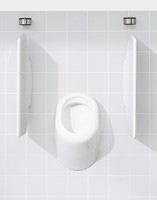 Exemple urinoir bâti-support GEBERIT