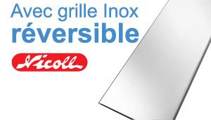 Grille inox réversible