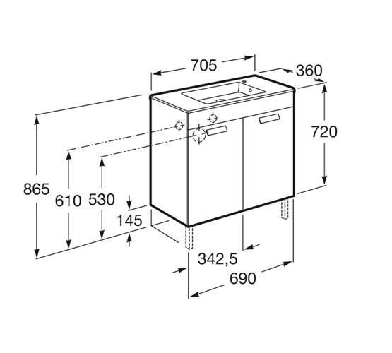 dimension compact DEBBA 700 2 portes